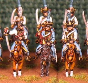 15mm, Napoleonic French Hussars (5th) AB 12 Figures